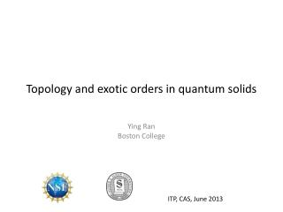 Topology and exotic orders in quantum solids