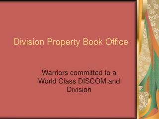 Division Property Book Office