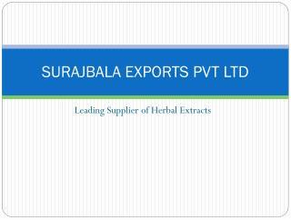 SURAJBALA EXPORTS PVT LTD