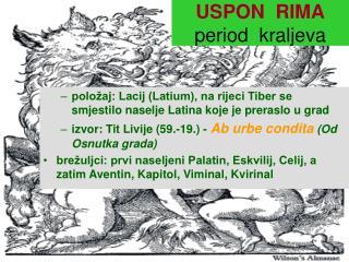 USPON  RIMA period  kraljeva