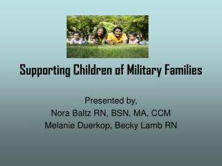 Supporting Children of Military Families