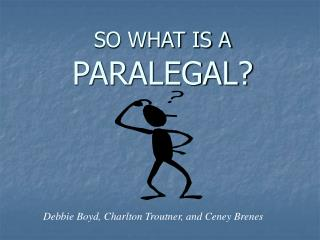 SO WHAT IS A PARALEGAL?
