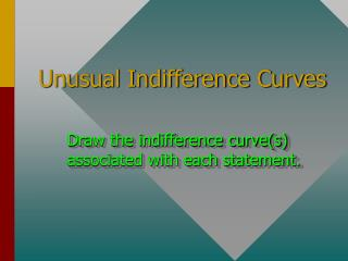 Unusual Indifference Curves
