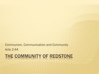 The Community of Redstone