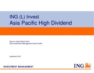 ING (L) Invest Asia Pacific High Dividend