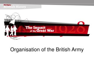 Organisation of the British Army