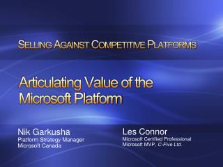 Selling Against Competitive Platforms