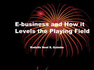 E-business and How it Levels the Playing Field