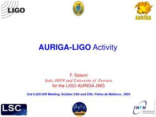 AURIGA-LIGO  Activity