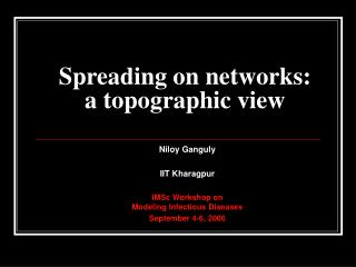 Spreading on networks:  a topographic view