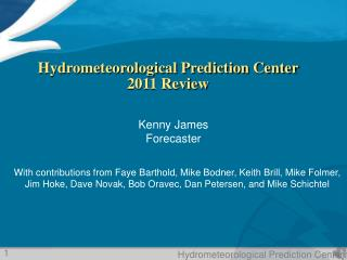 Hydrometeorological Prediction Center  2011 Review
