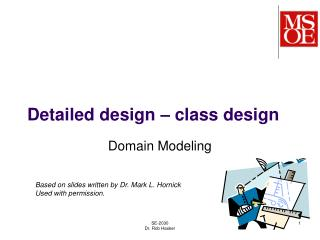 Detailed design – class design