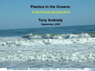 Fate of Plastics in Oceans