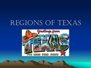 Regions of Texas