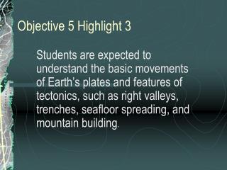 Objective 5 Highlight 3