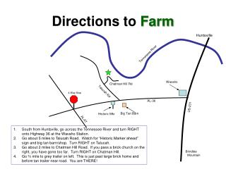Directions  to  Farm