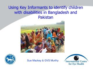 Using Key Informants to identify children with disabilities in Bangladesh and Pakistan