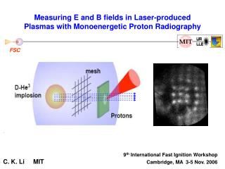 Measuring E and B fields in Laser-produced Plasmas with Monoenergetic Proton Radiography