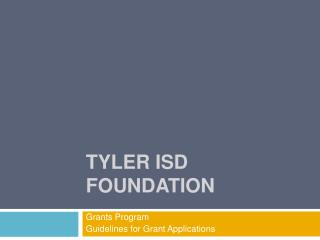 Tyler ISD Foundation