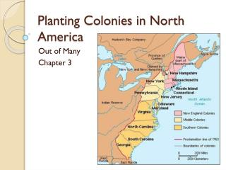 Planting Colonies in North America