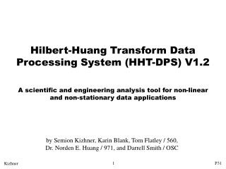 Hilbert-Huang Transform Data Processing System (HHT-DPS) V1.2