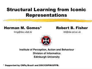 Structural Learning from Iconic Representations