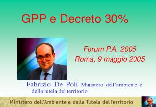 GPP e Decreto 30%