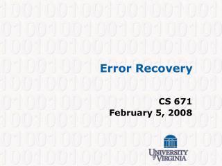 Error Recovery