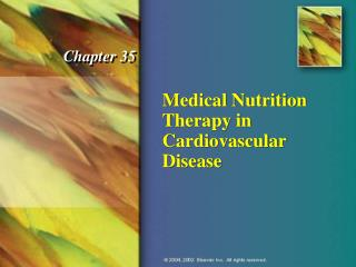 Medical Nutrition Therapy in Cardiovascular Disease