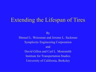 Extending the Lifespan of Tires