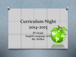 Curriculum Night 2014-2015