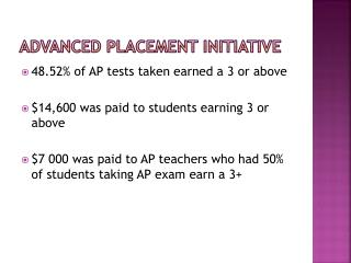 Advanced Placement Initiative