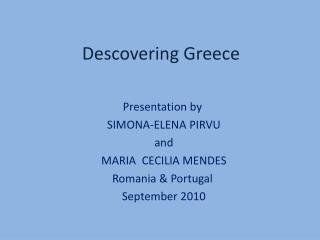 Descovering Greece
