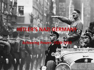 HITLER�S NAZI GERMANY