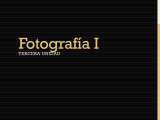 Fotografía I