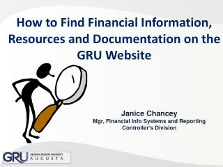 How to Find Financial Information, Resources and Documentation on the GRU Website