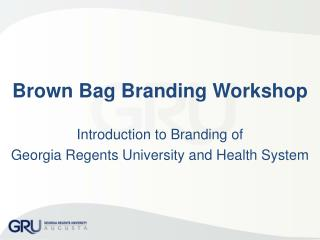 Brown Bag Branding Workshop