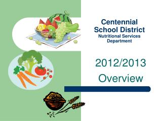 Centennial School District Nutritional Services Department