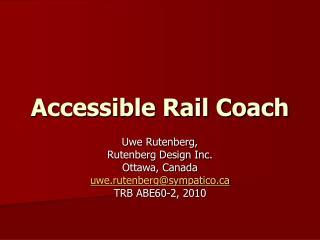 Accessible Rail Coach