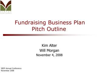 Fundraising Business Plan Pitch Outline