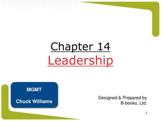 Chapter 14 Leadership