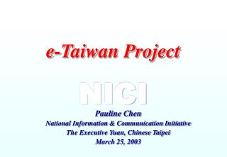 e-Taiwan Project