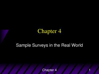 Sample Surveys in the Real World