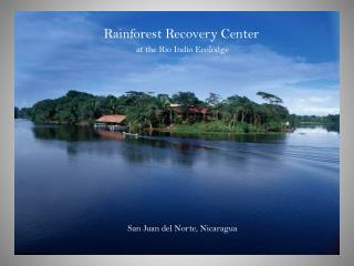 Rainforest Recovery Center  at the Rio Indio Ecolodge  San Juan del Norte, Nicaragua