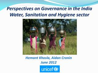 Perspectives on Governance in the India Water, Sanitation and Hygiene sector