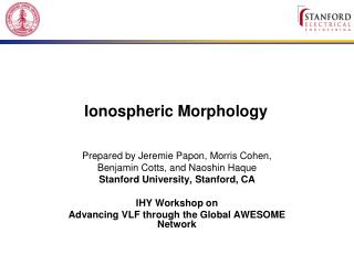 Ionospheric Morphology