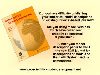 Do you have difficulty publishing    your numerical model descriptions