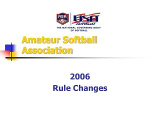 Amateur Softball Association