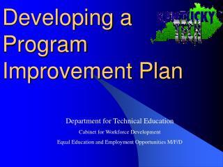 Developing a Program Improvement Plan