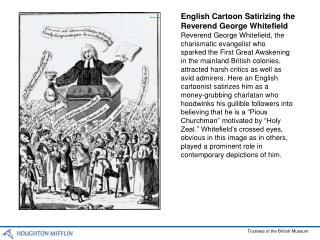 English Cartoon Satirizing the Reverend George Whitefield
